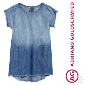 NEW AG Adriano Goldschmied Ombré Chambray Dress